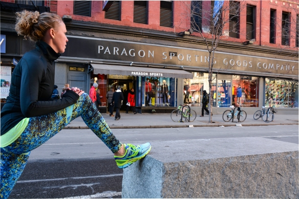 Buyer Sara Williams in Candida Maria tights
